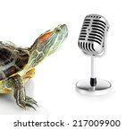 Red Ear Turtle With Microphone...