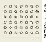 set with icons   the sun. a... | Shutterstock .eps vector #217015246