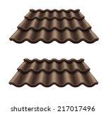 dark chocolate corrugated tile... | Shutterstock .eps vector #217017496