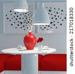 modern interior design. white... | Shutterstock . vector #217018330