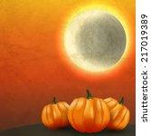vector halloween invitation...   Shutterstock .eps vector #217019389