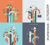 set of flat design concept... | Shutterstock .eps vector #217020259