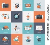 set of flat design concept... | Shutterstock .eps vector #217020280