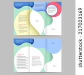 abstract colored brochure...   Shutterstock .eps vector #217023169