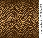 seamless texture of tiger skin | Shutterstock .eps vector #217026724