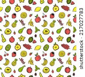 fruit seamless pattern | Shutterstock .eps vector #217027783