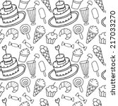 hand drawn confectionery sweet... | Shutterstock .eps vector #217033270