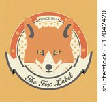 fox label design | Shutterstock .eps vector #217042420