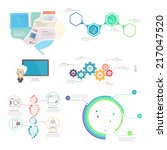 collection  set of infographic... | Shutterstock .eps vector #217047520