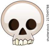 skull cartoon icon