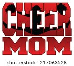 cheer mom is an illustration of ... | Shutterstock .eps vector #217063528