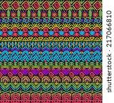 folklore seamless pattern of... | Shutterstock .eps vector #217066810