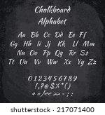 vector illustration of chalked... | Shutterstock .eps vector #217071400