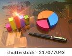 financial graphs as a... | Shutterstock . vector #217077043