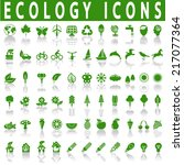 ecology icons | Shutterstock .eps vector #217077364