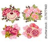 flower set | Shutterstock .eps vector #217077460