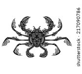 vector sea crab. patterned... | Shutterstock .eps vector #217090786