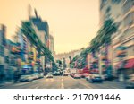 los angeles   hollywood... | Shutterstock . vector #217091446