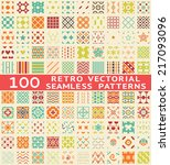 retro different seamless... | Shutterstock . vector #217093096
