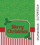 elegant striped christmas... | Shutterstock .eps vector #217095514