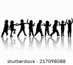 children silhouettes   Shutterstock .eps vector #217098088