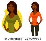 cute cartoon illustration of a... | Shutterstock . vector #217099936