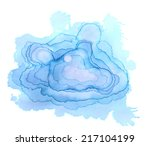blue watercolor background for... | Shutterstock . vector #217104199