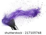 Makeup Brush With Blue Powder...
