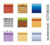 textures for platformers icons... | Shutterstock .eps vector #217108228