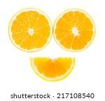 Orange Isolated On White.