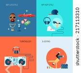 rap music lifestyle turntablism ... | Shutterstock .eps vector #217113310