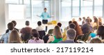 speaker at business workshop... | Shutterstock . vector #217119214