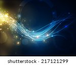 energy light waves | Shutterstock . vector #217121299