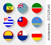 flags of the world  set 15 with ... | Shutterstock .eps vector #217125160