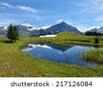 spitzhorn and pond  summer... | Shutterstock . vector #217126084