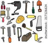 vector set of construction tool | Shutterstock .eps vector #217126624