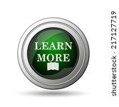 learn more icon. internet...   Shutterstock . vector #217127719