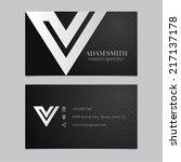 elegant vector graphic business ... | Shutterstock .eps vector #217137178