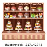 Store Sweets And Bakery. Vecto...