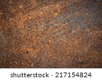 metal rust background   grunge... | Shutterstock . vector #217154824