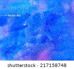watercolor universe. vector...   Shutterstock .eps vector #217158748