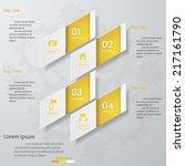 design clean number banners... | Shutterstock .eps vector #217161790