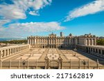 royal palace in  madrid spain | Shutterstock . vector #217162819