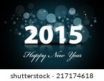 sparkle background of happy new ... | Shutterstock . vector #217174618