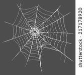 vector spider's web on dark...   Shutterstock .eps vector #217178920