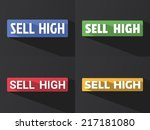 "flat word ""sell high"" with long ... 