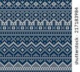 nordic traditional fair isle... | Shutterstock .eps vector #217183984