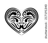 heart tattoo. eps10 vector   Shutterstock .eps vector #217191340