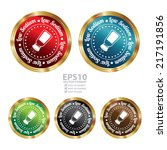 vector   colorful circle... | Shutterstock .eps vector #217191856
