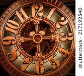 antique clock dial close up....